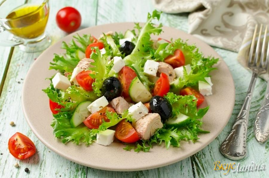 фото салат с тунцом